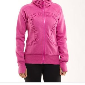 Lululemon Sparkly Pink Cuddle Up Jacket